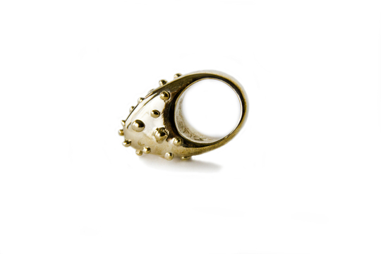 Stay back.    NYC Guard Ring by Mia Fonssagrives Solow