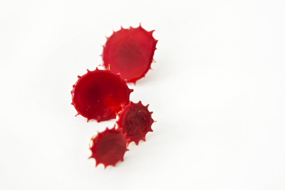 Splish splash.     Blood Jewelry  by Rob Wynne