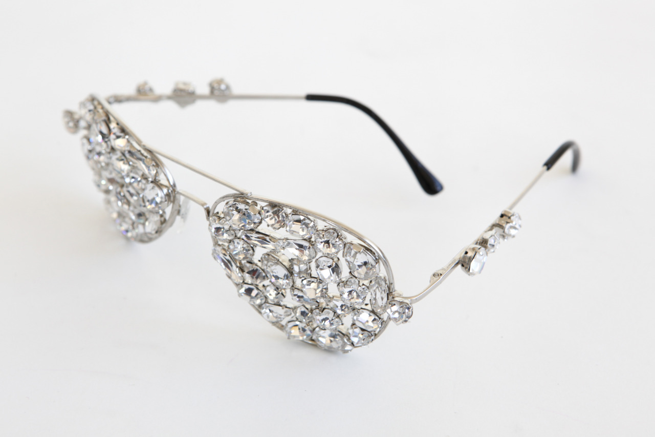 MICHAEL SCHMIDT  CRYSTAL AVIATOR GLASSES