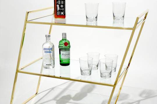 It's 5 o'clock somewhere.    Bar Cart  by Martin Oppel
