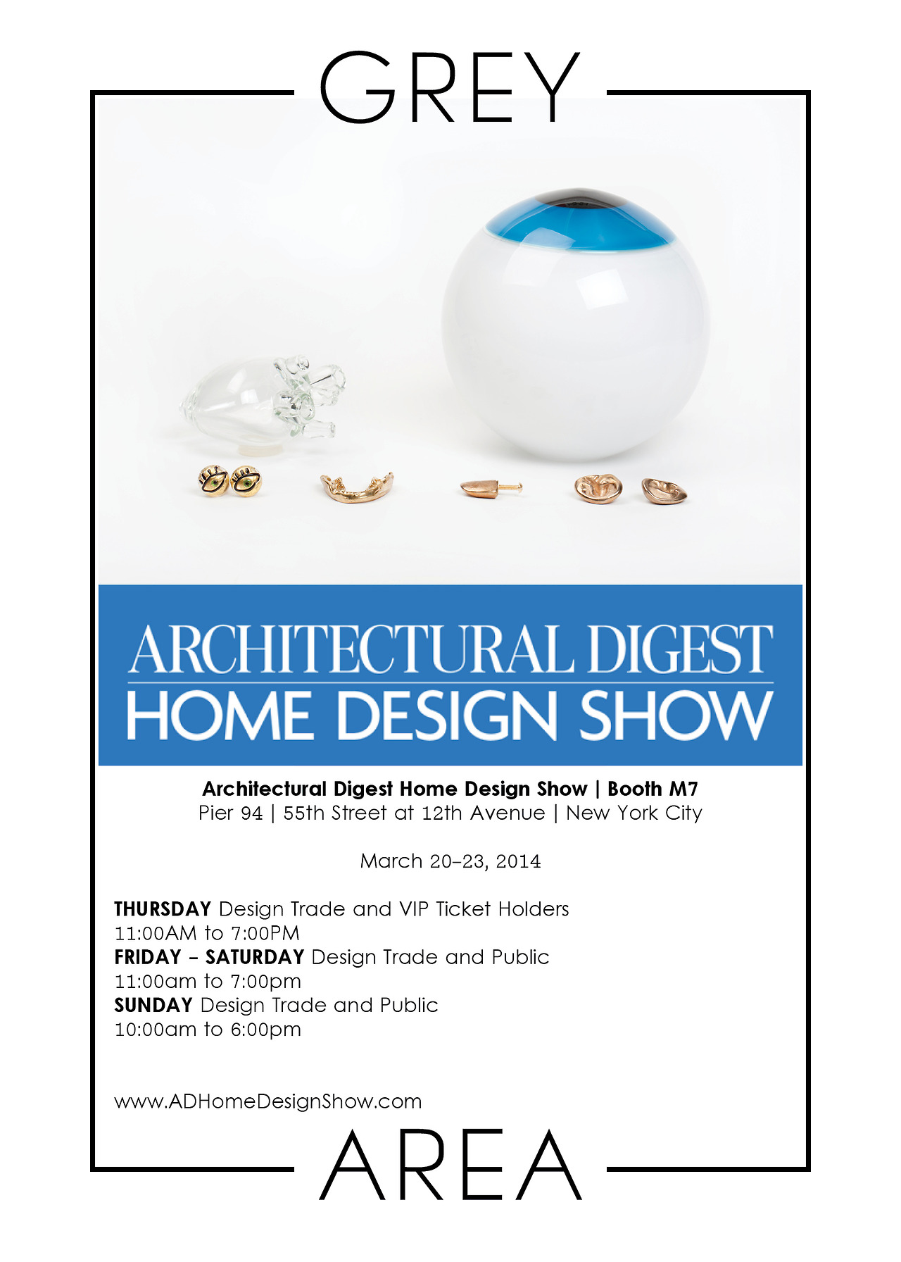 Find us at Booth M7 at the Architectural Digest Home Design Show next week, March 20-23!