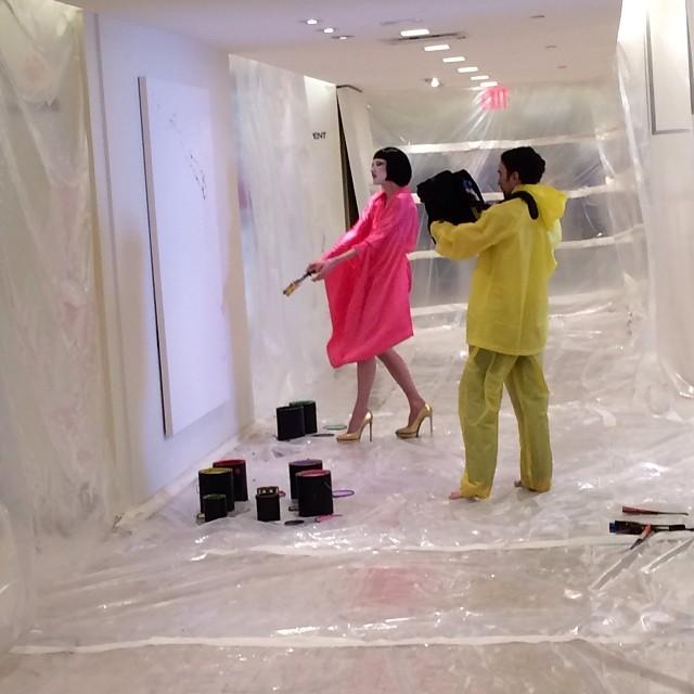 Sneak peek #GreyAreaForBG #10artists10spaces #artmatters @shopgreyarea @bergdorfs - Space 1 -  Andrea Mary Marshall