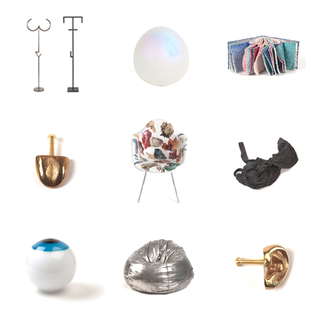 Like what you see? Find it all and more at Grey Area's booth M7 next week at the Architectural Digest Home Design Show. Objects by Material Lust, Katherine Gray, Alexis Arnold, Malia Jensen, Philip Estlund, Jude Tallichet, Sigga Heimis, and Cheryl Ekstrom.