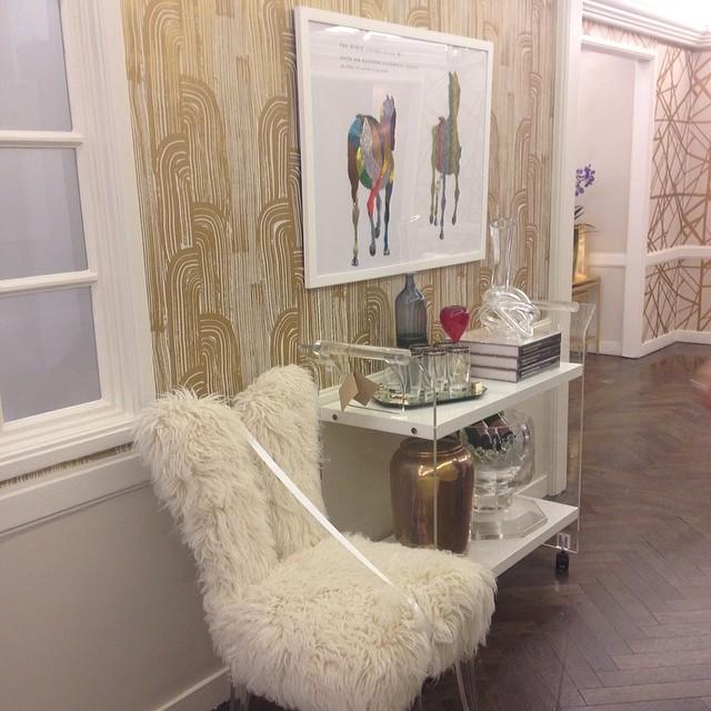 Joseph Heidecker's innermost workings on display against a Kelly Wearstler backdrop at Bergdorf Goodman.