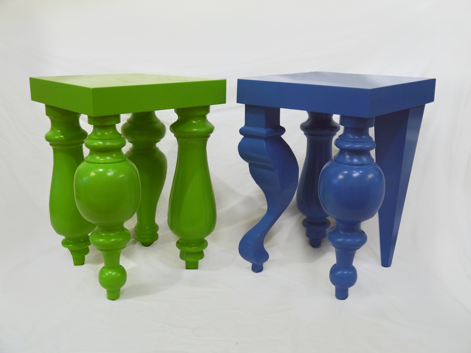 This week's  G-spot newsletter , in collaboration with  ARTLOG  focuses on Panamanian artist, Miky Fabrega and his  Split Identity Table . With miss-matched legs, these tables have split personalities, in several uncommonly bright and fun colors.
