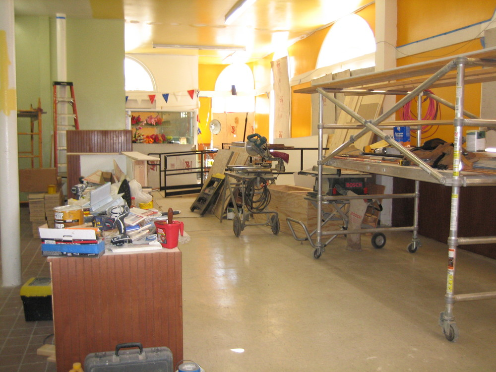 Oasis Cafe's space before Taddesse's renovations