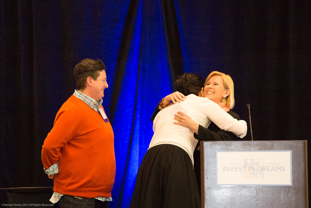2015 Imagine awardwinners Jen Johnson and Serafina Palandech of Hip Chick Farms, and Laurie O'Hara