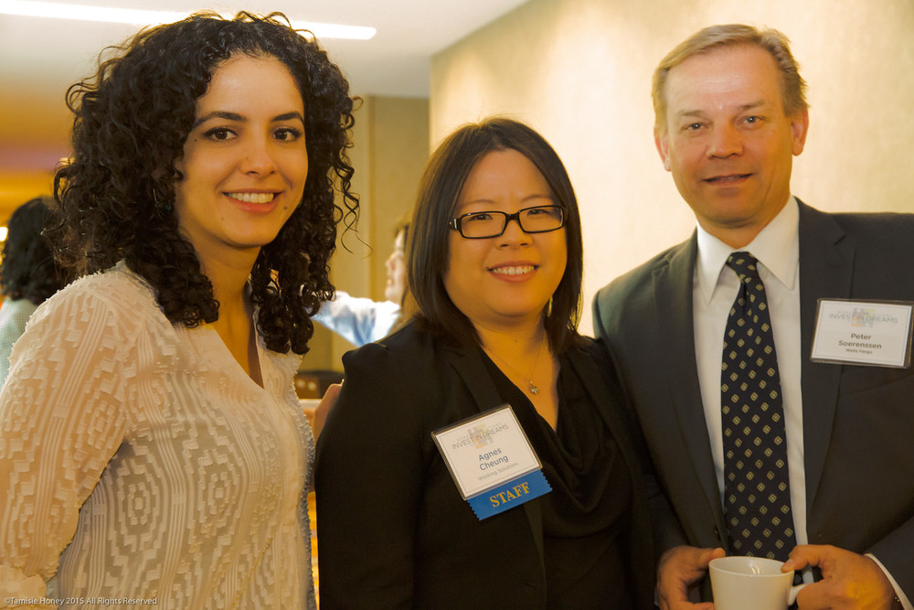 Lorena Roman and Agnes Cheung of Working Solutions, and Peter Soerenssen of Wells Fargo