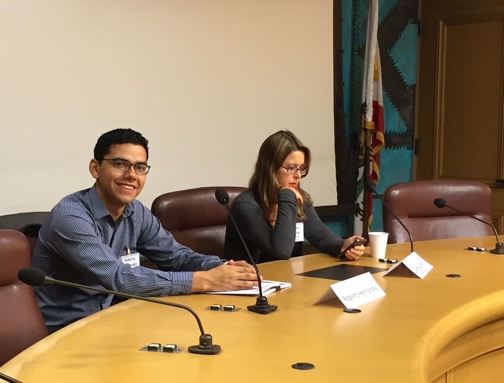 Lending Associate Roberto at the Access to Capital Panel in Oakland