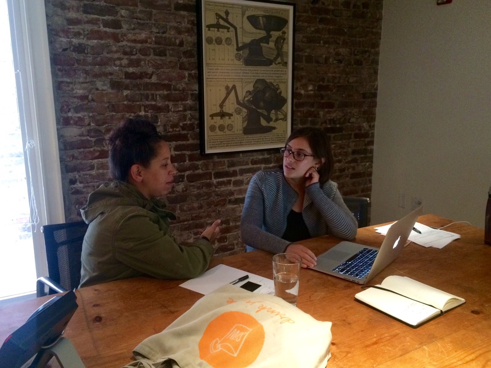 Sow Juice's Luisa Meets with Business Consulting officer Jaclyn