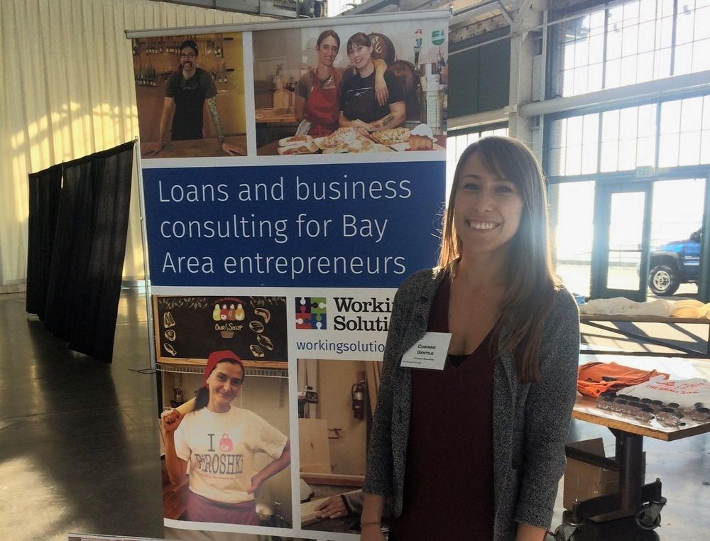 Business Development Officer Corinne at the Richmond Economic  Summit