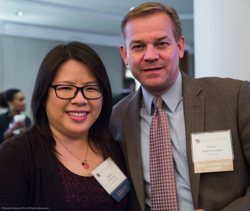 Agnes Cheung of Working Solutions and Peter Soerenssen of Wells Fargo