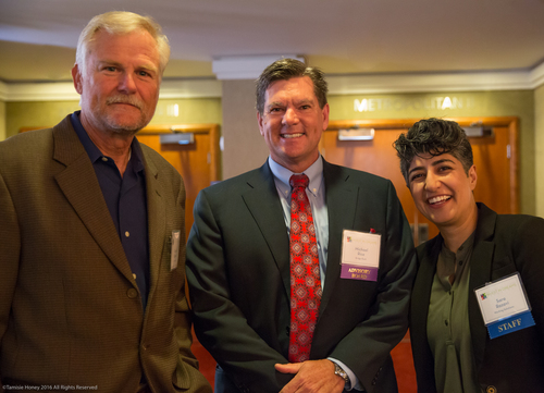Gordon Dupries of FranNet USA, Michael Rice of Bridge Bank, and Sara Razavi of Working Solutions