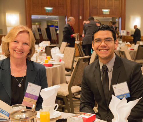 Beverly Windle of Mendoza and Associates and Roberto Hernandez of Working Solutions