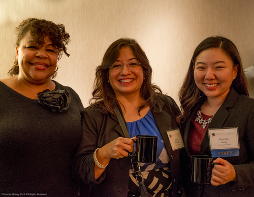 Gwendolyn Wright of Renaissance Entrepreneurship Center, Josie Ramirez of Boston Private Bank, and Priscilla Jang of Working Solutions