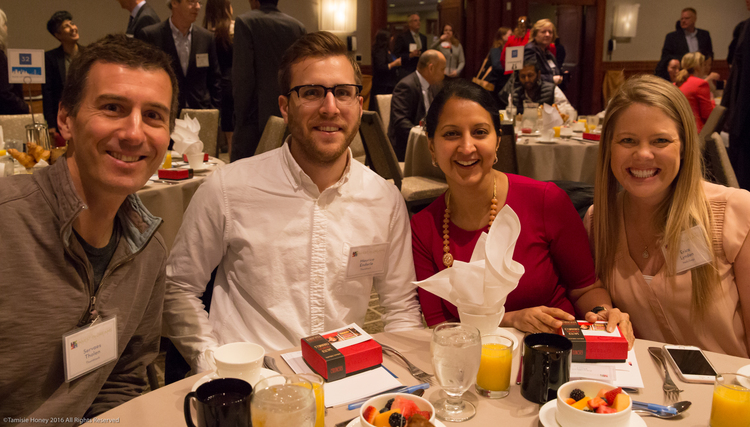 Servaes Tholen, Maurice Enderle, Madhvi Puri of Thumbtack, and Erica Lynden of Wells Fargo