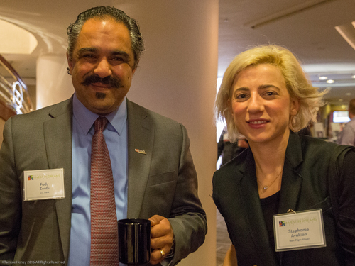 Fady Zoubi of US Bank and Stephanie Avakian of Burr Pilger Mayer