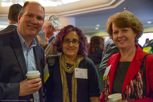 Eugene Seip of First Bank, Lea Salem of NCCLF, and Susan Montoya of First Bank