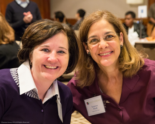 Cheryl Hayes and Suzanne Mindt of Bank of the West
