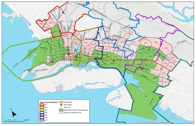 City of Oakland designated Opportunity Zones