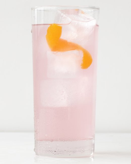 Coconut water vodka cocktail. Yum. I love a pink drink!