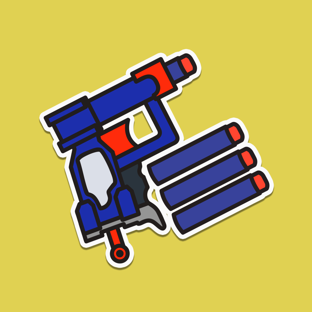 Thé archetypical agency Nerf Gun. Worn most by developers, creatives, and fun people in general.