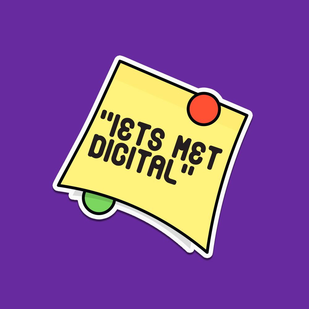 The one every digital person can relate to. And ironically the most analogue sticker of the entire series.