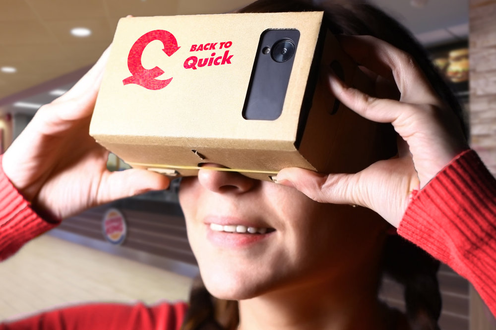 Quick�Social - Fooling around with tech-gadgets for ournational hamburger restaurant chain: Quick.Social media for Quick - Happiness 2016