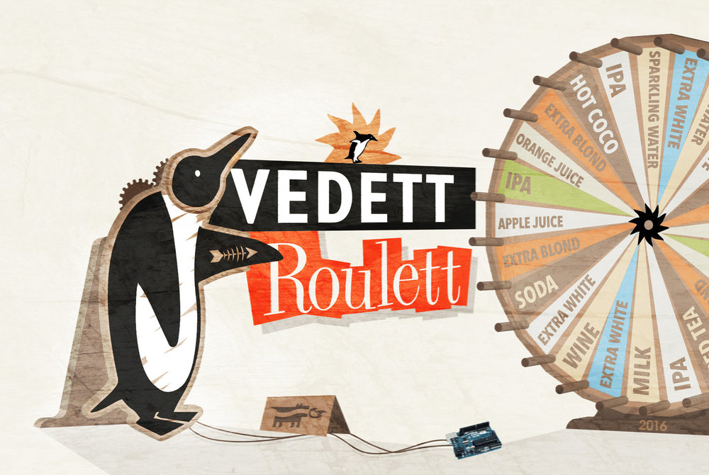 Vedett�Roulett - Vedett used to be this cool anti-beer-marketing-beer™But that changed ... long story short: we built a penguin. POS for Vedett - YoungDogs competition 2016