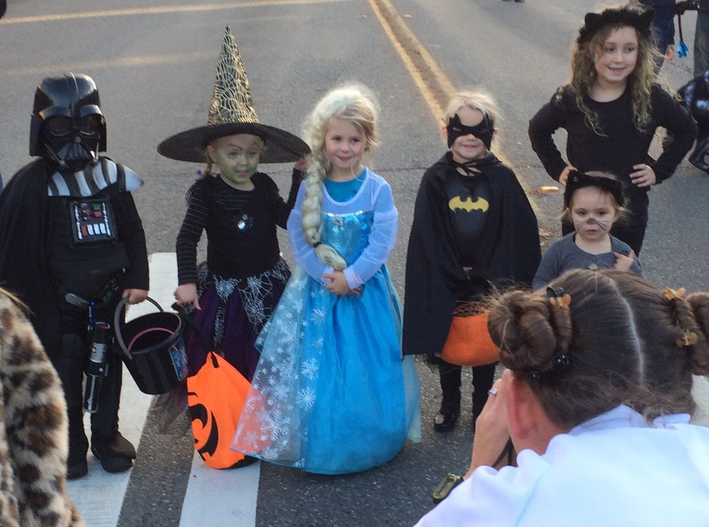 Princess Leia meets Darth Vader and his assorted wives. . .