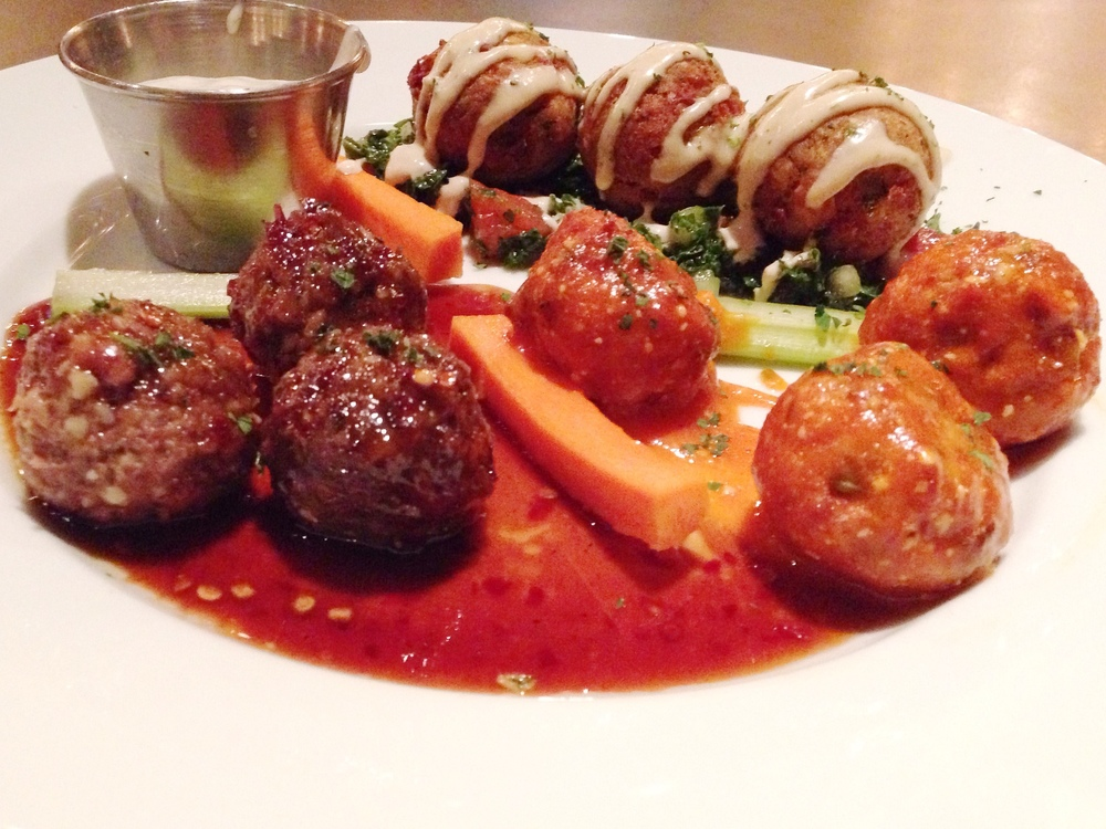 Bits and Pieces appetizer - time to sample Orbs' beloved Meatballs! Definitely a dish to share with friend!