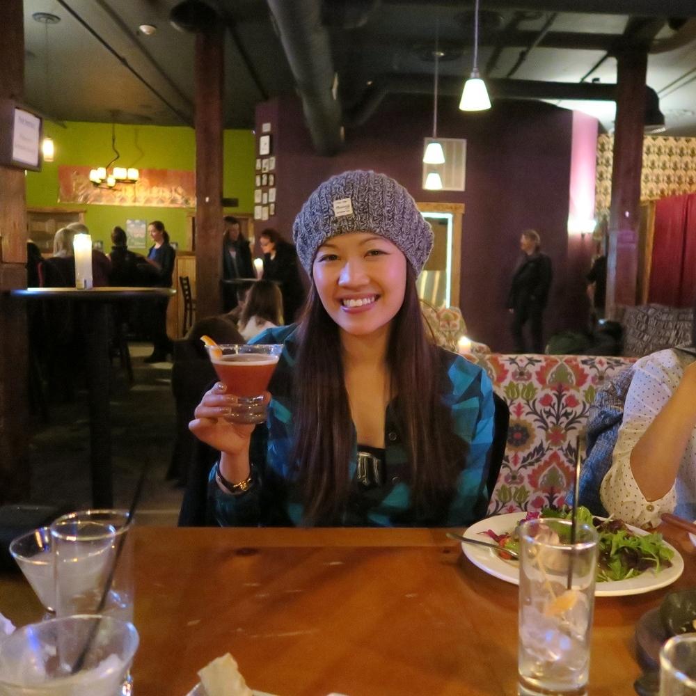 Enjoying a cocktail off of the 'Secret Menu'