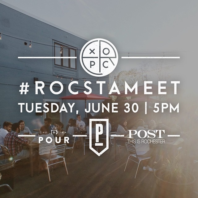 #ROCSTAMEET June 30th. See you there!  Photo Credit: Explore Rochester // Steve Carter