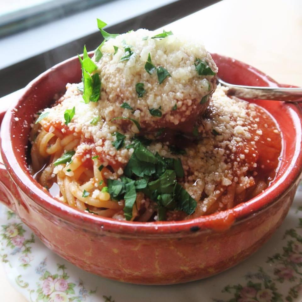 Spaghetti & Meatballs at Restaurant Fiorella