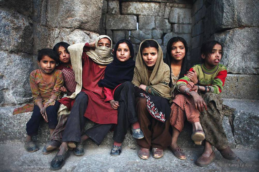 Kashmiri girls  /  Jeunes filles du Cachemire | INDIA