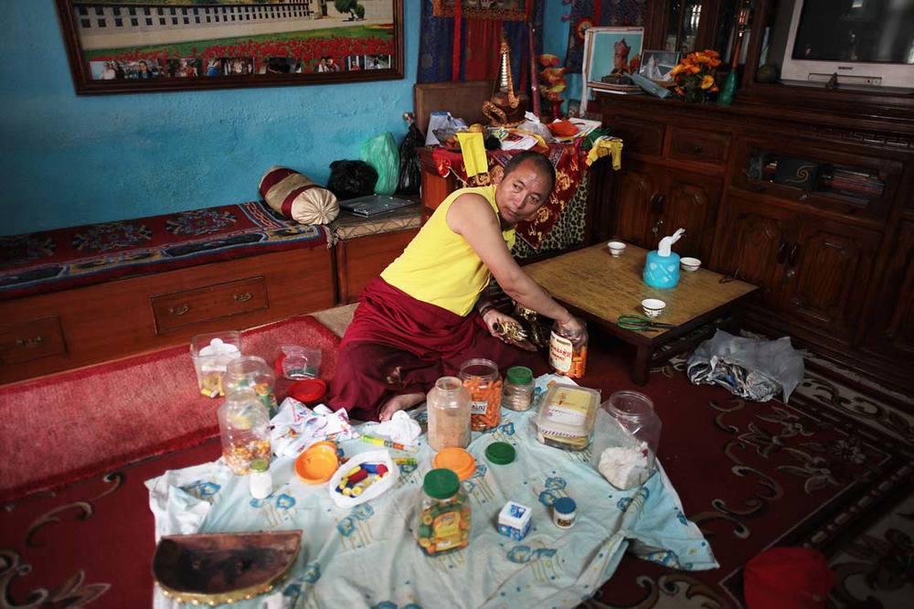 Lopsang Lama, a reincarnated monk / Lopsang Lama, moine réincarné