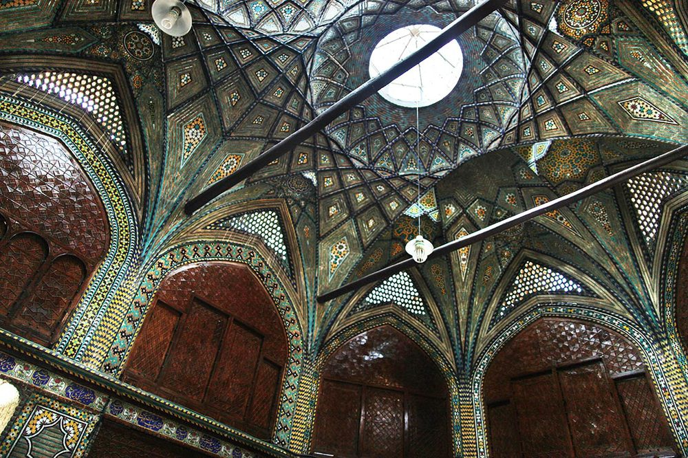 Ceiling of a bazaar in Isfahan | IRAN