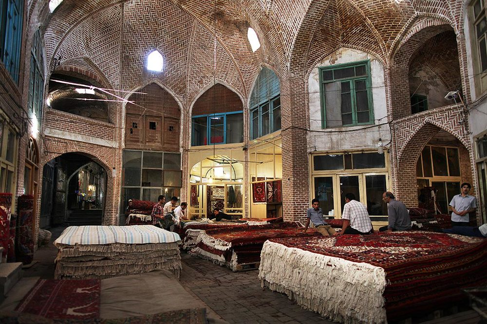 Its historic bazaar complex is one of the most important commercial centres on the Silk Road | Here is  Mozzafarieh  (the carpet bazaar) | IRAN