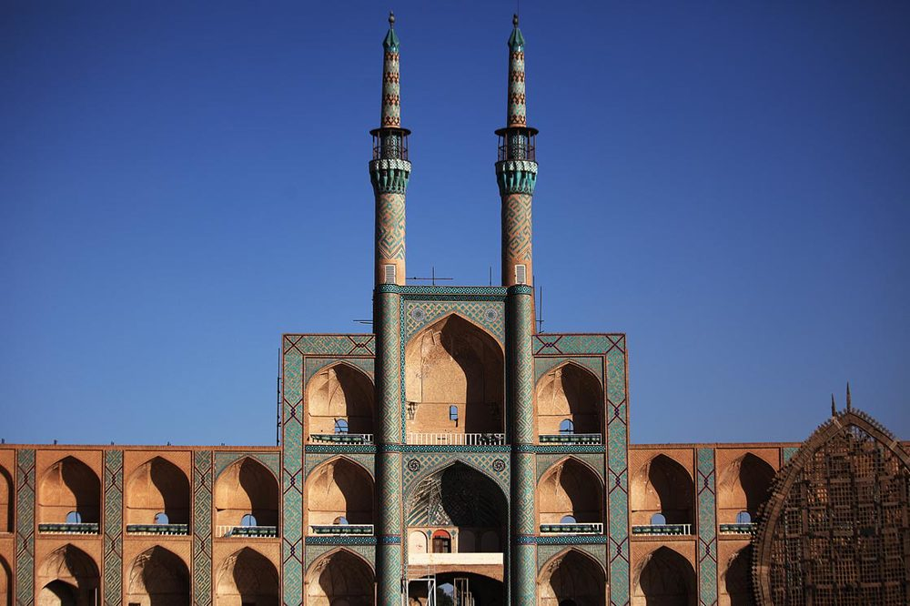 Amir Chakhmaq Complex  is a prominent structure in  Yazd , noted for its symmetrical sunken alcoves (16th century) | IRAN