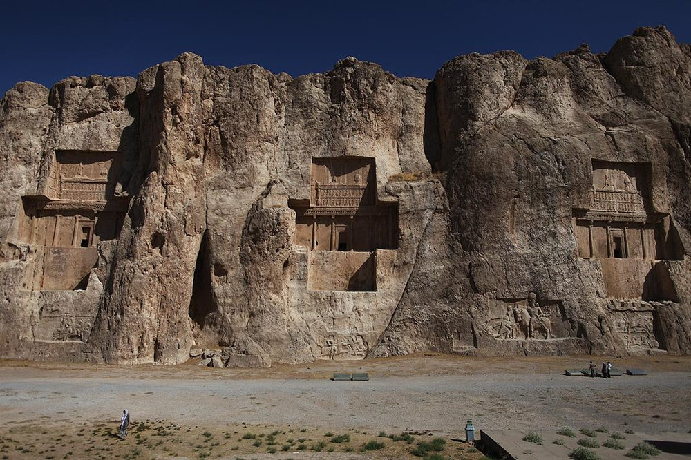 Four tombs belonging to Achaemenid kings are carved out of the rock face at a considerable height above the ground |  Naqsh-e Rostam  | IRAN