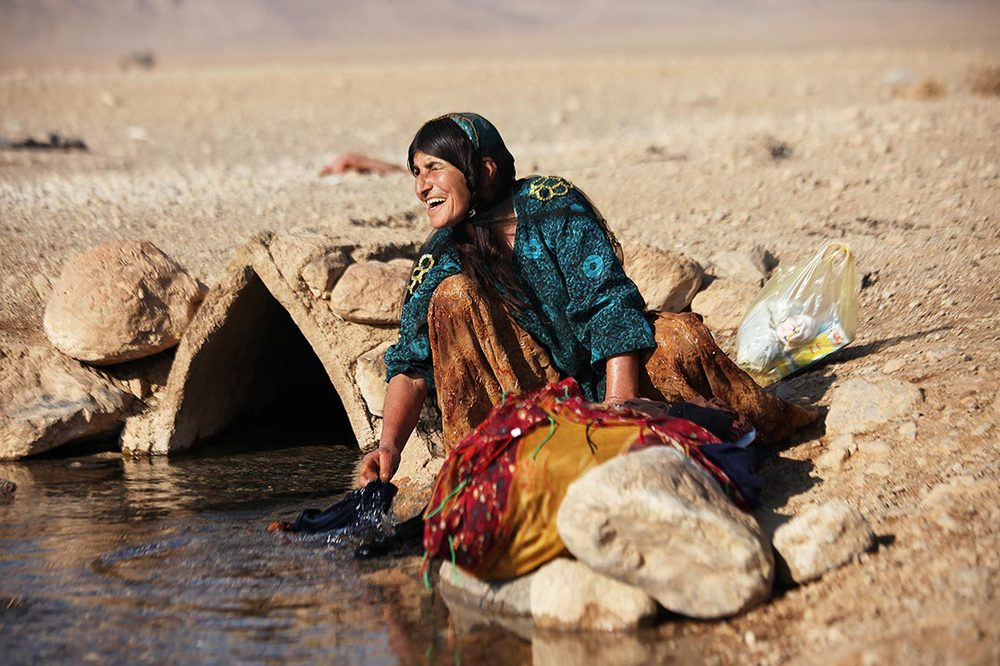 Although overall the Iranian government's successive attempts at settling these tribes in villages and towns of Fars province has not been successful, some families have accepted to settle | around Eqlid | IRAN