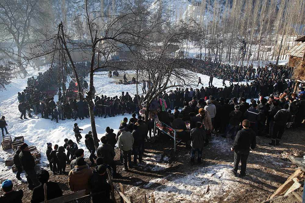 Over 1000 people gathered for  a circumcision   ceremony of a young boy of   Arslanbob     | KYRGYZSTAN