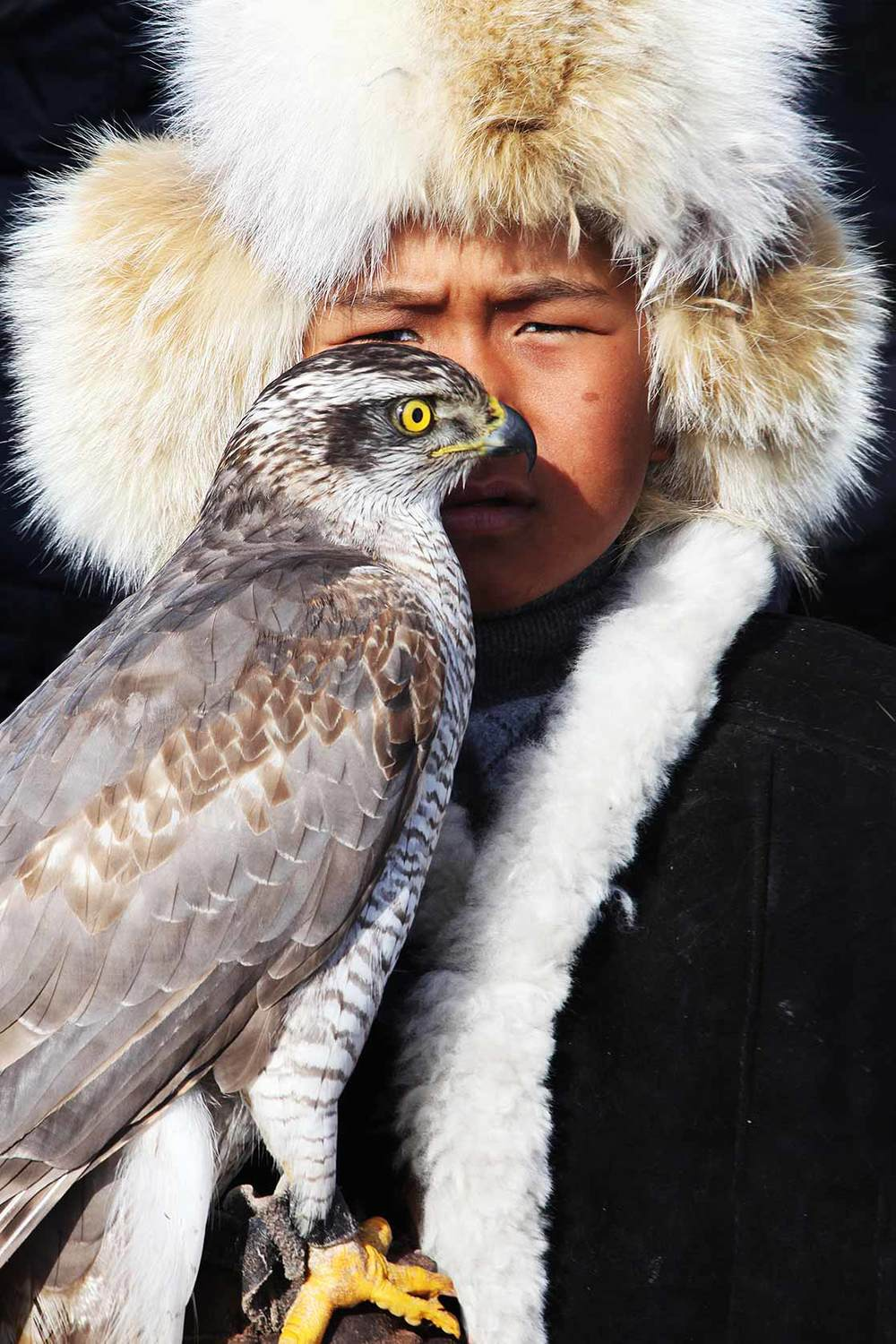 Gengis, 8 years old, the youngest falconer of Kazakhstan  | KAZAKHSTAN