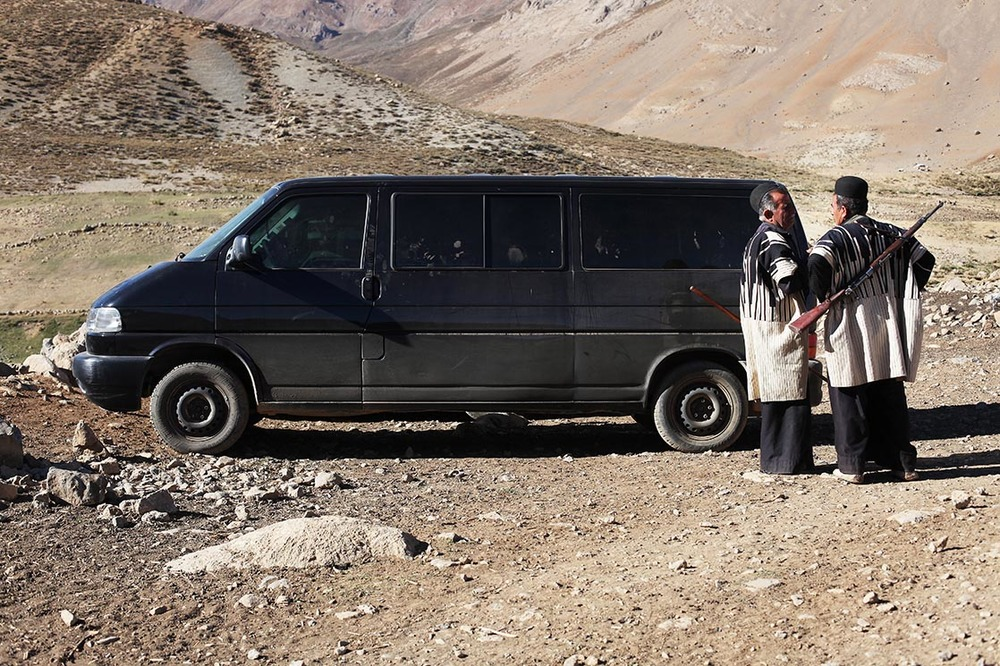 The van parked near a camp of Bakhtiari tribe    | IRAN