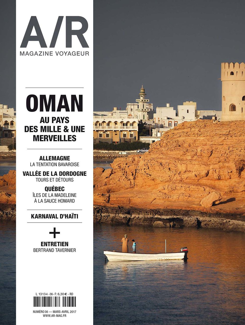 "A/R   (Mars 2017) > ""Quand La mer rencontre le désert"" Cover + 12 pages of report"