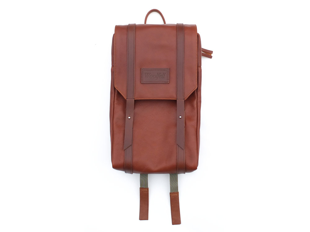 WARRIOR backpack in cognac leather