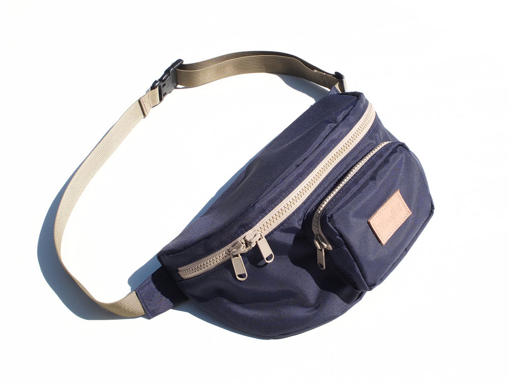 Navy nylon WAIST / SLING BAG