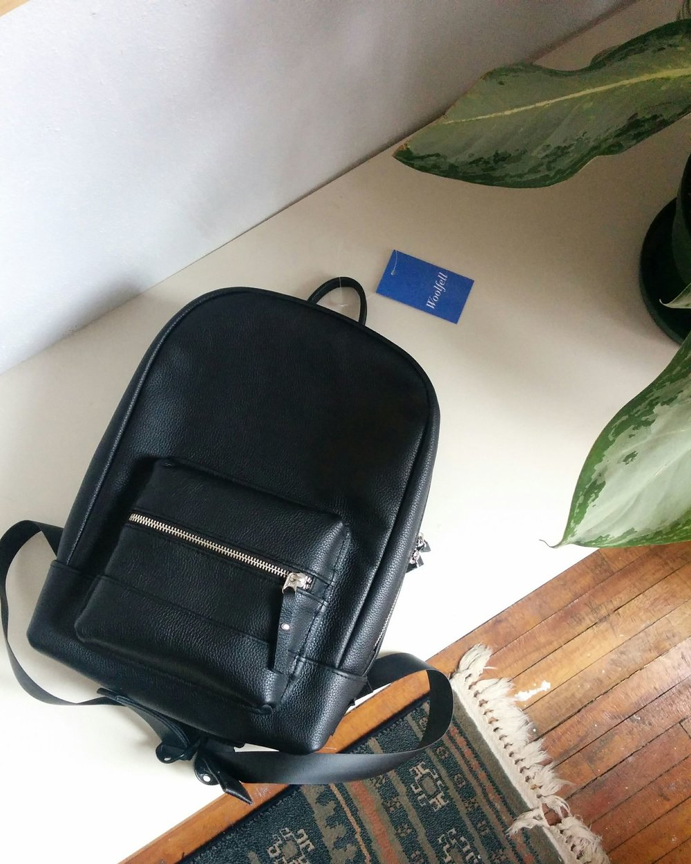 Black leather 'Rationale Mini' backpack