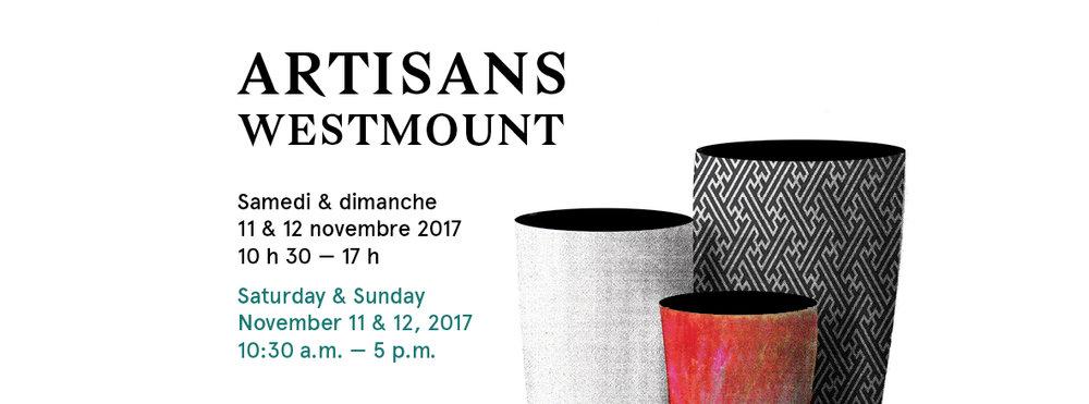 Artisans Westmount Nov 11 __10:30 AM - 5:00 PM Nov 12 __ 10:30 AM - 5:00 PM Victoria Hall (Westmount) 4626 Rue Sherbrooke O, Westmount, Quebec H3Z 1G1 INFO