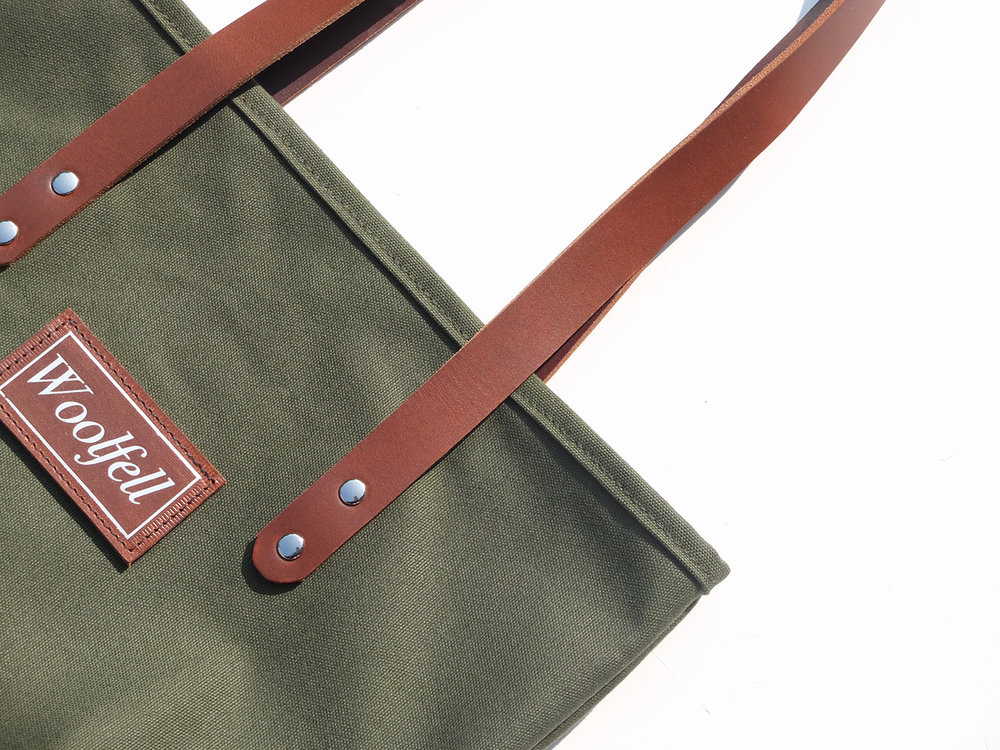 Leather and canvas Tote bag